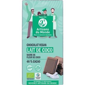 Chocolat vegan bio au lait de coco - 100g