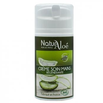 NATURALOE - Crème mains régénérante bio à l'Aloe vera 50ml