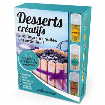 AROMANDISE - Livre Coffret Desserts créatifs aux Cristaux huiles essentielles