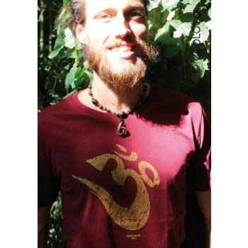 T-shirt bio OM YOGA MANTRA France artisan équitable vegan fair wear