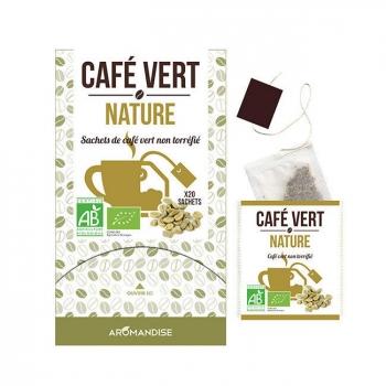 AROMANDISE - Café vert nature bio 20 sachets