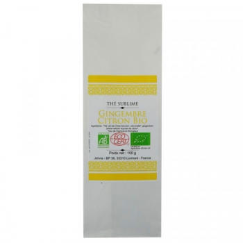 Thé Vert Gingembre Citron Bio - 100 g