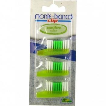 Recharge Brosse à dents Sensitive - 3 têtes - Monte-Bianco