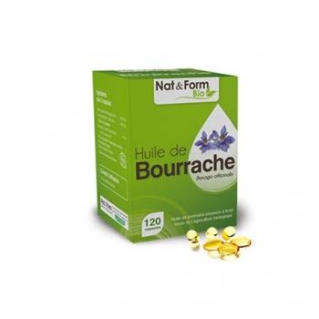 Huile de Bourrache - 120 Capsules - Nat & Form