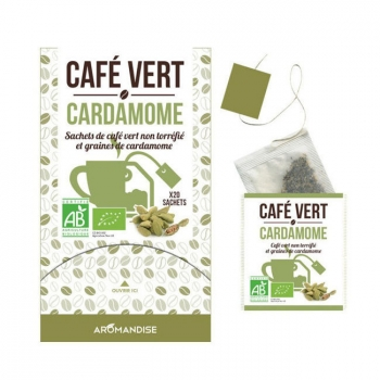 AROMANDISE - Café vert Cardamome bio 20 sachets