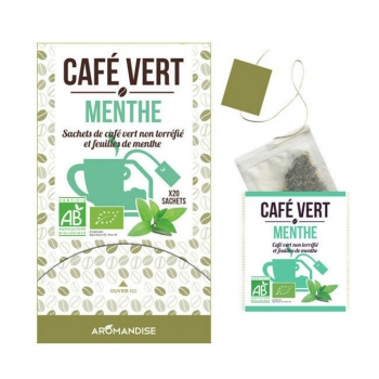 AROMANDISE - Café vert Menthe bio 20 sachets