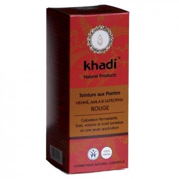 KHADI - Henné Amla et Jatropha rouge - Coloration végétale naturelle 100g
