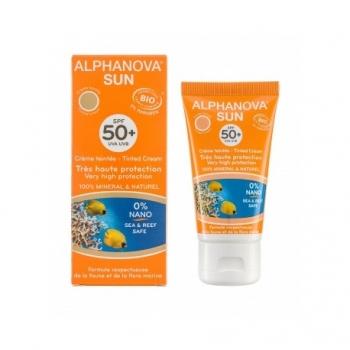 Crème Solaire Bio Teintée 50+ - 50g - Alphanova Sun