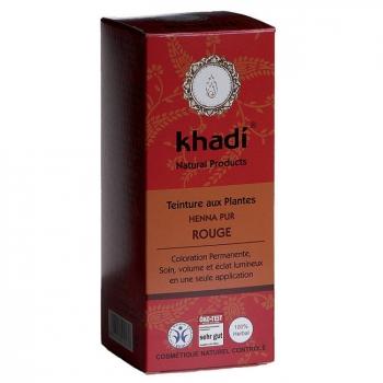 KHADI - Henné pur Rouge - Coloration végétale naturelle 100g