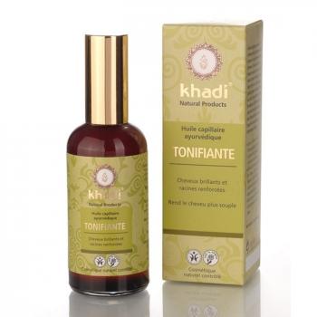 KHADI - Huile capillaire Tonifiante ayurvédique - Cheveux ternes 100ml
