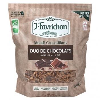 Muesli Croustillant Duo de Chocolats 500g - Joseph Favrichon