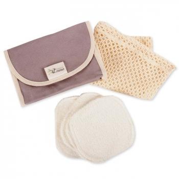 LES TENDANCES D'EMMA - Kit Eco Belle Nomade Coton bio biface - Coton démaquillant lavable