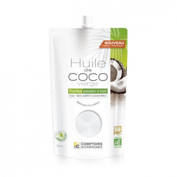 COMPTOIRS ET COMPAGNIES - Huile de coco bio alimentaire - Doypack 500ml