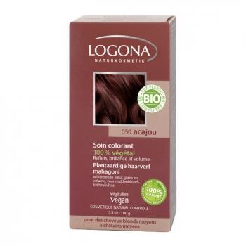 LOGONA - Acajou - Soin colorant végétal - Reflets pour cheveux blonds à châtains 100g