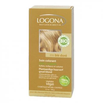 LOGONA - Blé doré - Soin colorant végétal  - Reflets pour cheveux blonds 100g