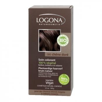 LOGONA - Chêne doré - Soin colorant végétal pour cheveux blonds et châtains 100g