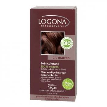 LOGONA - Marron - Soin colorant végétal - Reflets pour cheveux blonds et châtains 100g