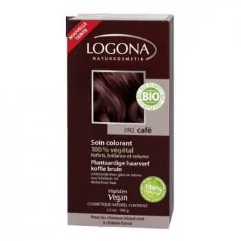 LOGONA - Café - Soin colorant végétal - Reflets pour cheveux blonds à châtains 100g