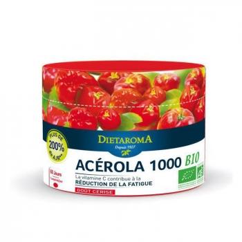 Acérola 1000 Bio - 60 Comprimés + 20% Gratuit -  DIETAROMA