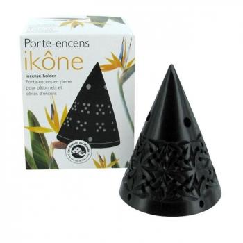 ENCENS DU MONDE - Porte Encens Ikône pour cônes d'encens en pierre naturelle