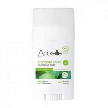 ACORELLE - Déodorant baume bio Citron et Mandarine verte 40g