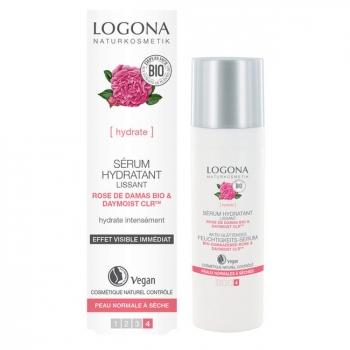 LOGONA - Sérum hydratant lissant Rose de Damas bio - Peaux sèches 30ml