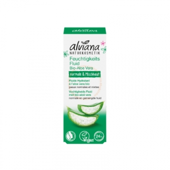 Fluide Hydratant à l'Aloé Véra Bio, Vegan - Pour peaux normales et mixtes - 30ml