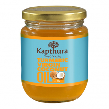 Huile de Coco infusée au Curcuma Bio 200 ml - Kapthura