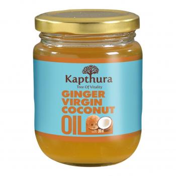 Huile de Coco infusée au Gingembre Bio 200 ml - Kapthura