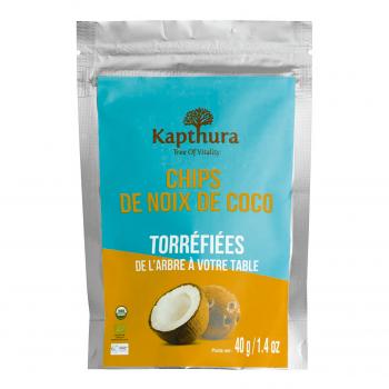Chips de Noix de Coco torréfiés 40g Bio - Kapthura