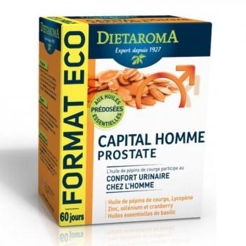DIETAROMA - Capital Homme Prostate - Confort urinaire - 120 capsules