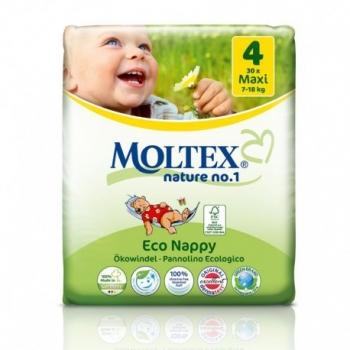 Couches écologiques jetables T4 - 7-18kg - 30 couches - Moltex