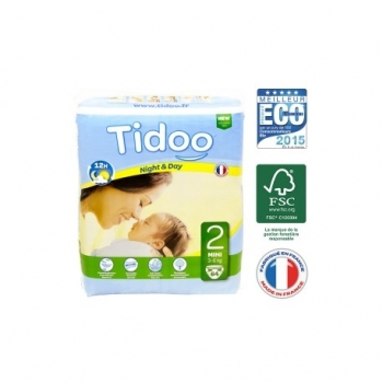 Couches Night & Day T2 3-6 kg - 64 couches - Tidoo