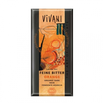 Tablette de Chocolat Noir Bio à l'Orange - 100g