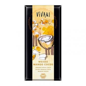 Chocolat Blanc Mangue et Noix de Coco - 100g