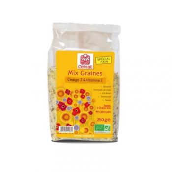 Graines Mix Bio - Oméga 3 et vitamine E - 250g