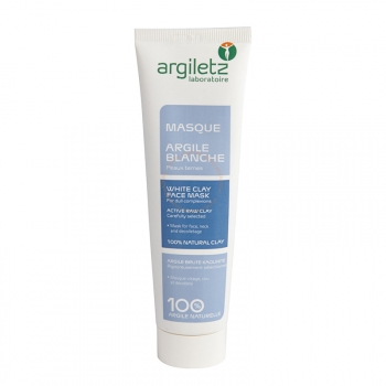 Masque Argile Blanche - Pour peaux ternes et matures - 100g