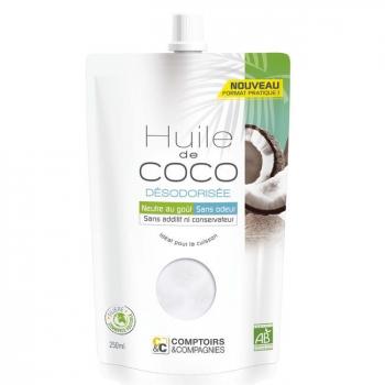 COMPTOIRS ET COMPAGNIES - Huile de coco désodorisée bio - Doypack 250ml