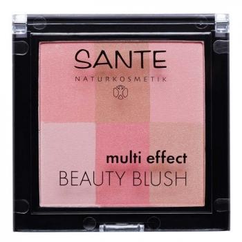 SANTE NATURKOSMETIK - Blush multi effets Coral n°01 Bio 8g - Eclat du teint