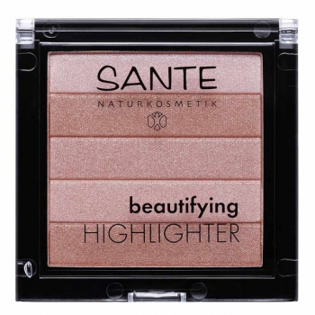 SANTE NATURKOSMETIK - Highlighter Nude n°01 Bio - illuminateur de teint - 7g