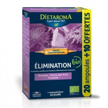 DIETAROMA - CIP Elimination bio - Bouleau, Reine des prés - 20 ampoules + 10 offertes