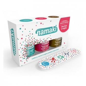NAMAKI - Coffret 3 Vernis à ongles pour enfant - Corail, Caraïbes et Bronze