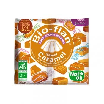 Bio Flan Non Sucré Sans Gluten - Saveur caramel - 2 sachets de 8g