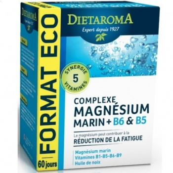 Complexe Magnésium + B6 & B5 - 120 capsules - DIETAROMA