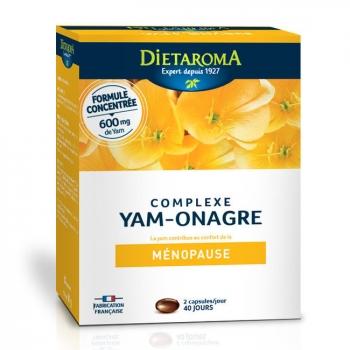 DIETAROMA - Complexe Yam Onagre - Ménopause - 80 capsules