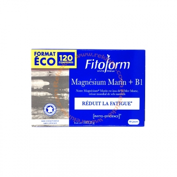 Magnésium Marin et Vitamine B1 - Réduit la fatigue - 51,6g