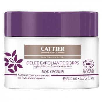 CATTIER - Gelée exfoliante bio pour le corps - Pêche et Ylang 200ml