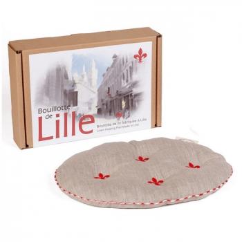 MILLE OREILLERS - Bouillotte de Lille ovale en lin naturel