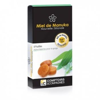 8 Pastilles pour la Gorge Miel de Manuka Eucalyptus - Comptoirs et Compagnies