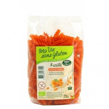 Fusilli lentilles corail Sans Gluten 250g - Ma Vie Sans Gluten